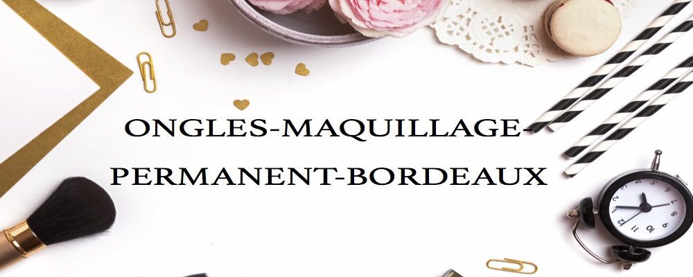 Ongles maquillage permanent bordeaux